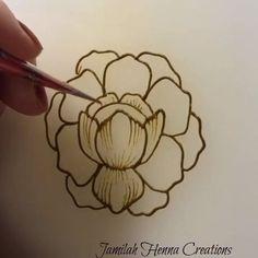 Peony flower henna www. Peony flower henna www. Floral Henna Designs, Henna Art Designs, Mehndi Designs For Girls, Modern Mehndi Designs, Dulhan Mehndi Designs, Mehndi Designs For Fingers, Mehndi Design Pictures, Beautiful Mehndi Design, Latest Mehndi Designs