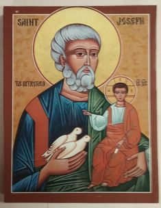 Saint Joseph the Betrothed. My patron saint. Religious Images, Religious Icons, Religious Art, Catholic Saints, Patron Saints, St Josephs Day, Religion, Religious Paintings, Madonna And Child