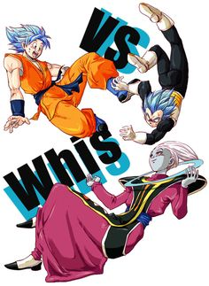 Goku and Vegeta vs Whis - Visit now for 3D Dragon Ball Z shirts now on sale!