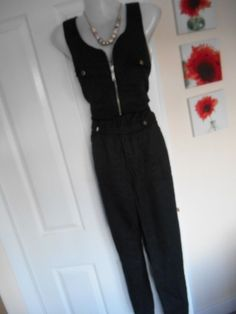 853fddf636b2 STUNNING RIVER ISLAND SIZE 14 BLACK ARMY STYLE JUMPSUIT FAST POSTAGE   fashion  clothing  shoes  accessories  womensclothing  jumpsuitsrompers  (ebay link)