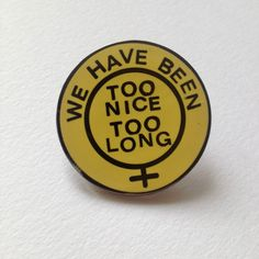 """This is a 1.25"""" hard enamel pin back button. It will look really great on your beret or your jacket. Edition of 200. The profits from this pin..."""