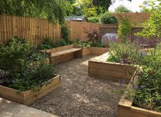 An example of a Large Walled Garden, Balham, designed and built by Jo Wyeth Garden Design in South London. Back Garden Design, Garden Design Plans, Backyard Garden Design, Backyard Landscaping, Landscaping Ideas, Small Garden Landscape, Narrow Garden, Raised Bed Garden Layout, Vegetable Garden Design