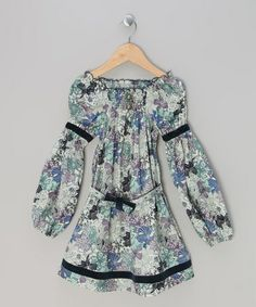 Take a look at this Purple Chimène Floral Peasant Dress - Infant, Toddler & Girls by La faute à Voltaire on @zulily today!