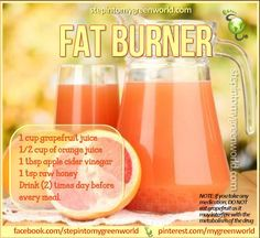 Apple Cider Vinegar and Grapefruit Fat Flush http://www.stepintomygreenworld.com/healthyliving/apple-cider-vinegar-and-grapefruit-fat-flush/