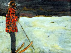 peter doig  Girl on Skis