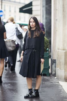 Tell me about your outfit, what you are wearing? - Im wearing a skirt from Sacai, sweater from...