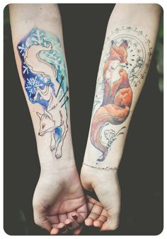 Fox tattoo. I love them