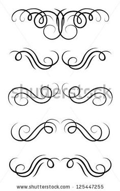 Swirl elements and retro monograms for design and decorate. Jpeg version also available in gallery