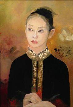 "French Artist Françoise de Felice - ""Le Kimono Noir"""