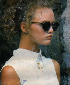 BOYS KEEP SWINGING » gawatchi: Young Vanessa Paradis. Sunglasses.
