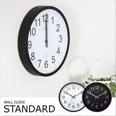 大きな数字が見やすい!スタンダード電波時計文字盤ホワイト/ブラック全2色スターライン[SterLine]【掛け時計置き時計時計インテリア雑貨おしゃれ時計壁掛け】