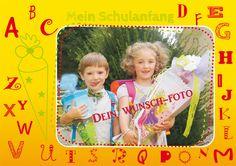 Poster: Passepartout-Poster Schulanfang - mit Deinem Wunschfoto -  Mein Posterladen - DaWanda