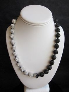"Black and White Necklace - ""Opening Night at the Opera.""  by BellaJoyJewelry"