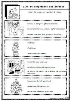 Lire des phrases simples, Cp, Ce1, comprendre, c