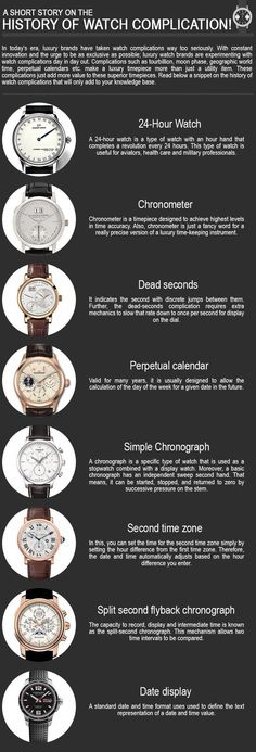 9013ac5448d8 Luxury Watch Complications: A Guide by Johnson Watch #MensWatches Watch  Complications, Luxury Watch
