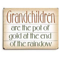 Grandchildren Wood Sign