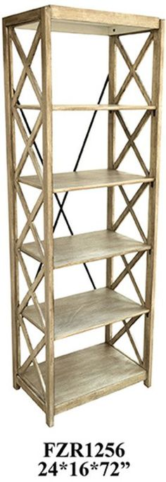 Crestview Collection CVFZR1256 Brookline Tall Etagere 24 X 16 X 72