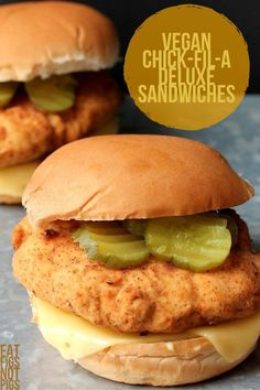 Vegan Chick-Fil-A Deluxe Sandwich Were you guys ever fans of Chick-Fil-A? In my thirty years on this planet, I can say I've never had the well-known and widely popular Chicken Sandwich, or anything on their menu for that matt… Vegan Dinner Recipes, Whole Food Recipes, Vegetarian Recipes, Cooking Recipes, Healthy Recipes, Veggie Meat Recipes, Vegan Soul Food Recipes, Vegan Chicken Recipes, Firm Tofu Recipes