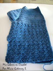 Mis labores en Crochet: Paso a paso del suéter para mascotas. Vestidos Bebe Crochet, Cat Sweaters, Puppy Clothes, Dog Coats, Crochet Top, Knitting, Pets, Pattern, Women