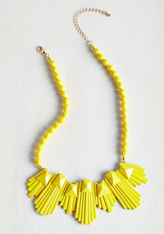 Seven Splendors of the World Necklace. Fashionistas near and far can agree that this yellow, ModCloth-exclusive necklace is a wonder to behold! #yellow #modcloth