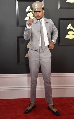 Chance The Rapper from Grammys 2017 Red Carpet Arrivals