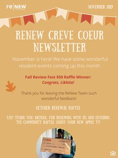 Can you believe November is here? Lucky for you, we have some great events planned! Check out the newsletter so you can be aware of all things ReNew. Looking forward to a wonderful month at our beautiful community! Pet Friendly Apartments, November, Community, Events, How To Plan, Learning, Check, Beautiful, Teaching