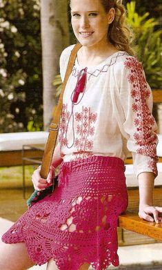 Crochet Skirt + Diagrams