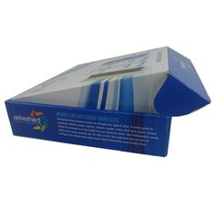 The is a shoe cleaner packaging boxes made for the refreshed shoe cleaner in the USA. The box is made like a postage box, which has the quite good rigidity, durability.
