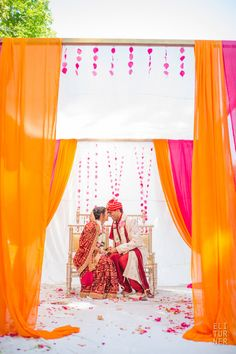 want to have flower petals on the ground in mandap for added color - do not like the rest of the mandap though