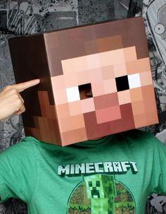 """Minecraft 12"""" Steve Head Costume Mask JINX, http://www.amazon.com/dp/B007IXAF52/ref=cm_sw_r_pi_dp_PQxEqb0RVN7ZG"""