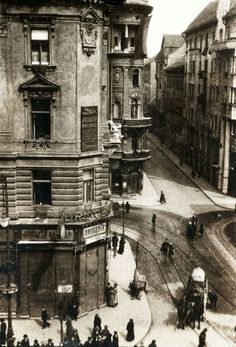 Dohány utca és Síp utca Rákóczi út sarok, 1919. fortepan_75878 (urbface)