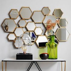 honeycomb pattern mirror