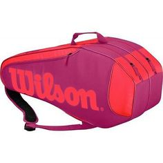 #Wilson burn team 6 #tennis racket bag #(pink) rrp £60, View more on the LINK: http://www.zeppy.io/product/gb/2/301847846831/