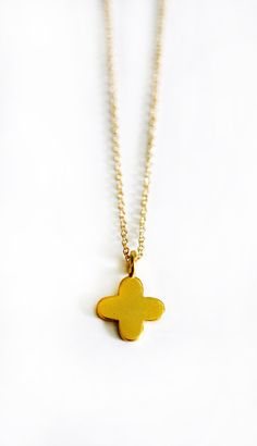 "GOLD vermeil small cross necklace by keijewelry on Etsy, $34.00 16"" chain"