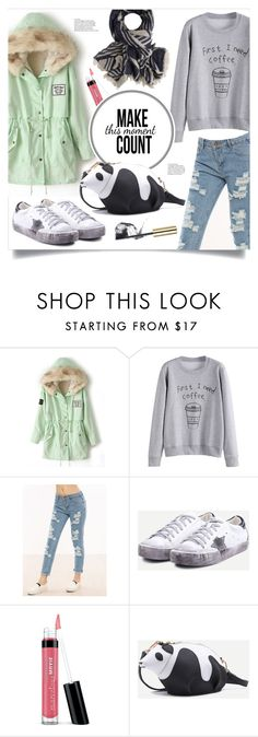 """""""Panda Bag"""" by mahafromkailash ❤ liked on Polyvore featuring Bare Escentuals and Estée Lauder"""