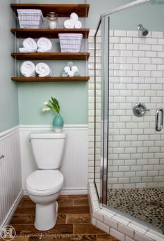 This bathroom by Little Rock, Arkansas interior designer Kathryn J. LeMaster, photographed here by Karen E. Segrave, is both beautiful and functional! Storage is always my number one priority and I…