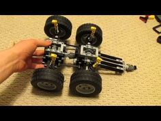 Lego Technic Independent Rear Suspension - 13 Studs Wide - YouTube