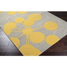 Surya's 100% Wool hand tufted modern rug will bring a pop of yellow to any room! OMR-1014.  #inspiredbysurya