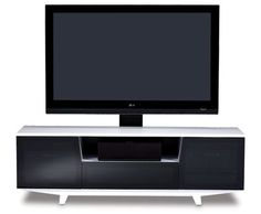 Marina 8729-2 Modern TV Cabinet in Black and White