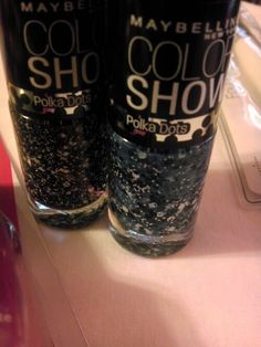Maybelline Color Show Polka Dot Collection.  Check out these beauties!   http://naturallystellar.wordpress.com/2013/09/27/frugal-friday-e-l-f-and-l-a-colors/  #nailpolish #maybelline #colorshow #polkadots #nailart #dots #fall #nailfashion #naturallystellar #beautyblogger #bblogger