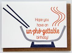 Un-pho-gettable Letterpress Birthday Card by kissandpunch on Etsy