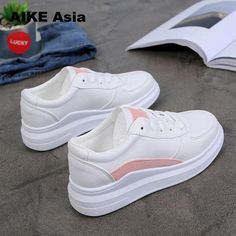 New 2019 Spring White Shoes Female Platform Sneakers Neue 2019 Spring White Schuhe Female Platform Sneakers – Putshy Casual Sneakers, Sneakers Fashion, Casual Shoes, Fashion Shoes, Shoes Sneakers, Sneakers Women, Shoes Sandals, Cheap Womens Shoes, Womens Shoes Wedges