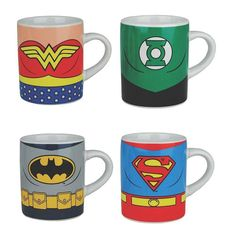 JUSTICE LEAGUE OF AMERICA - CHARACTER MINI MUG SET OF 4