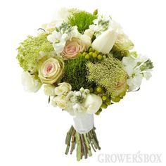Green Wedding Flowers Collection - 10 piece combo package by The Grower's Box. Arranged Wedding Flowers delivered to your door.
