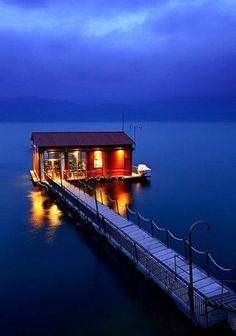 Macedonia in North Greece     A floating bar at lake Vegoritis     Vegoritis Lake is the second largest in Greece and the deepest one more than 70m deep and it is divided between the prefectures of Florina and Pella.