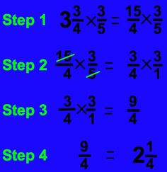How to Multiply Fractions in Four Easy Steps Math Strategies, Math Resources, Fraction Activities, Math Games, Multiplying Fractions, Dividing Fractions, Equivalent Fractions, Multiplication, Science