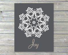 Joy Printable Christmas Art Print Last Minute Holiday by AldariArt, $5.00