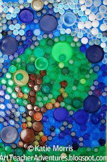 Flaschen-Deckel-Kunst