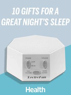 Whether it's a loud neighbor or an Instagram addiction causing sleepless nights, these gifts will drown out the noise—and help her drift off to dreamland, stat.   Health.com