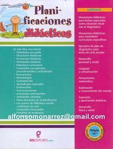 MIS PLANIFICACIONES DIDÁCTICAS PREESCOLAR   1 Libro Autor José Pablo García Editor Gil Editores Libros para Profesores            A pe...